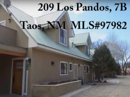 209 Los Pandos, Unit 7B, Taos, NM  MLS #97982